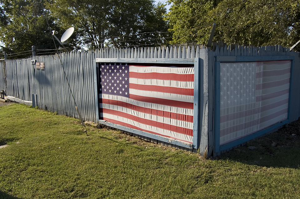 Flag As Part of Fence