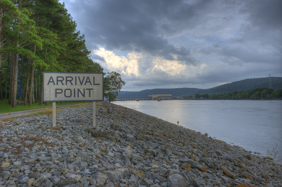 Tennessee River Barge Arrival Point
